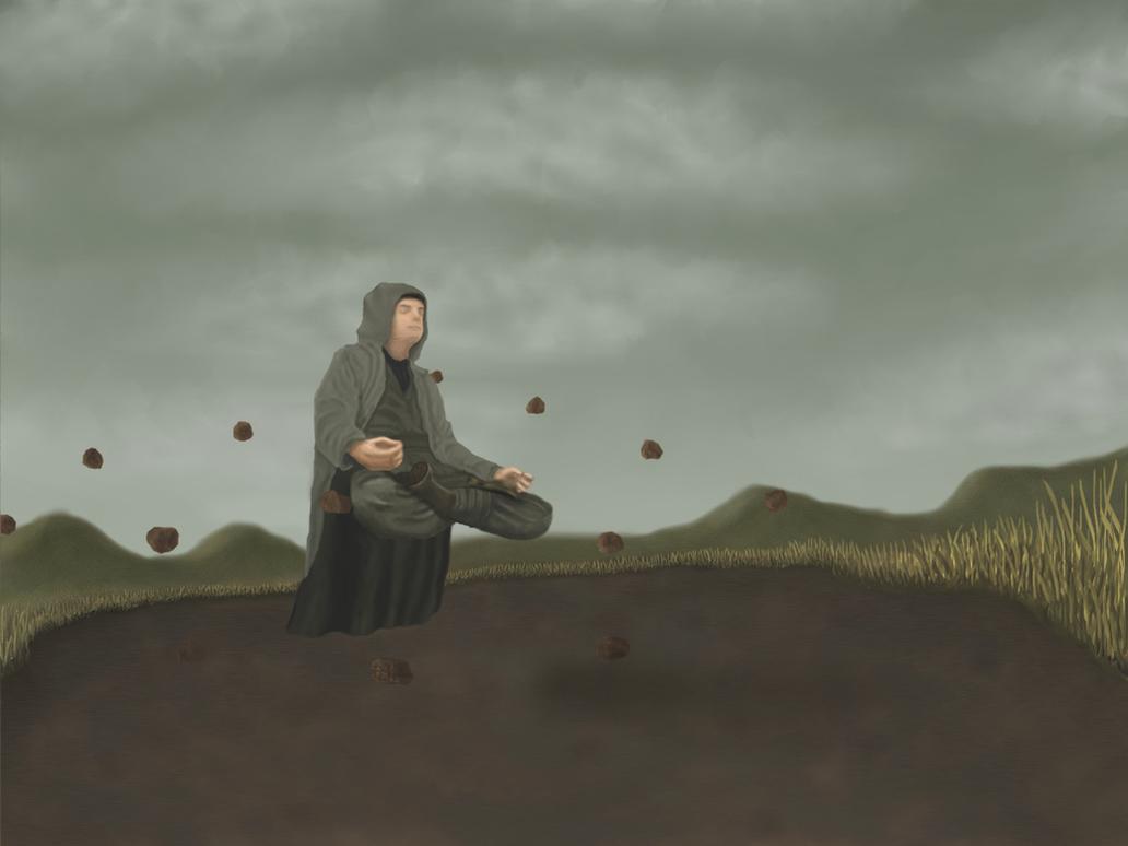 Jedi Floating Meditation by laxsiber on DeviantArt