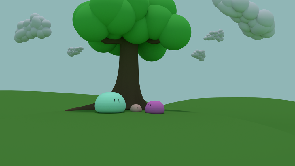 Dango under a tree by telimonster