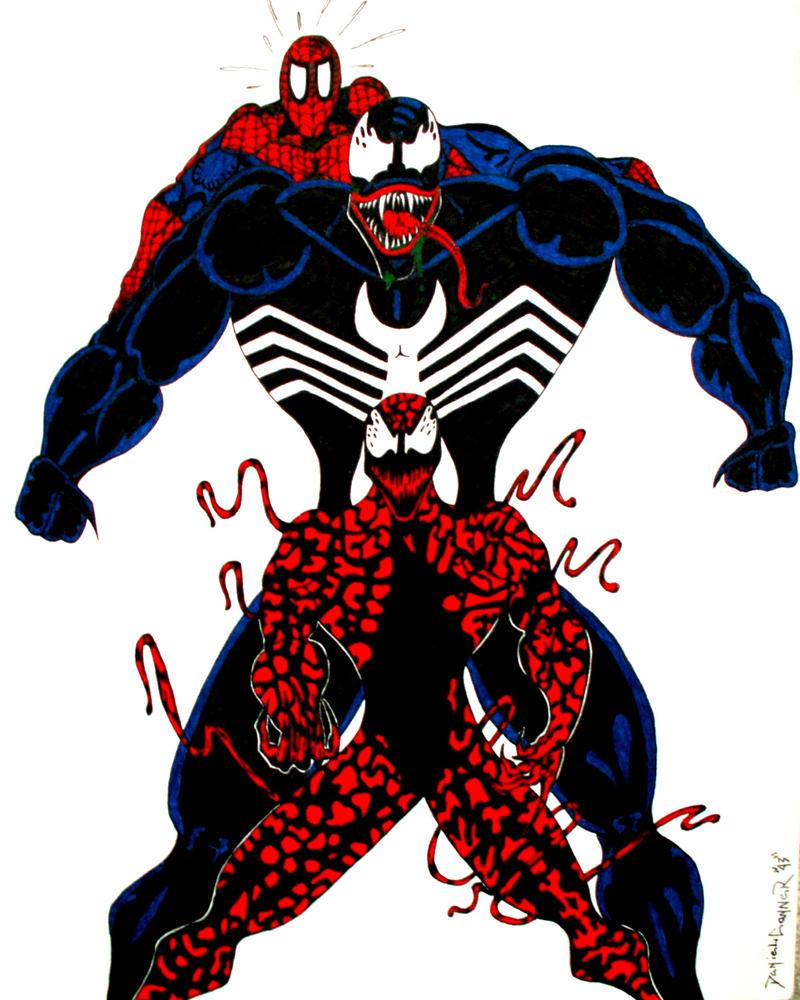 spiderman venom carnage wallpaper