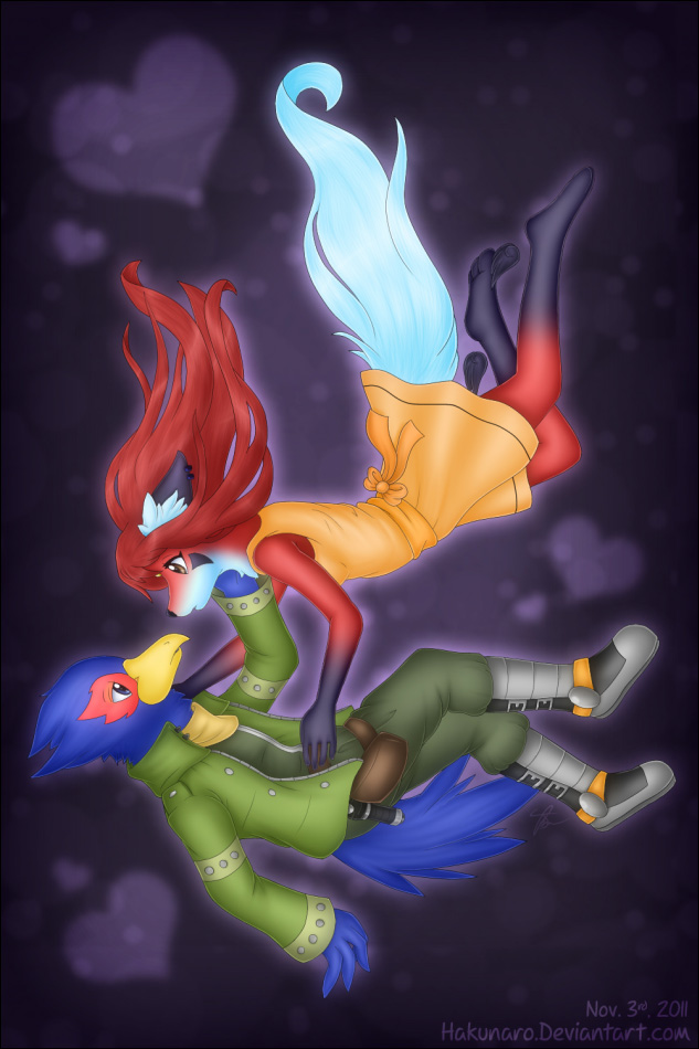 ArtTrade - Falling in Love by Hakunaro