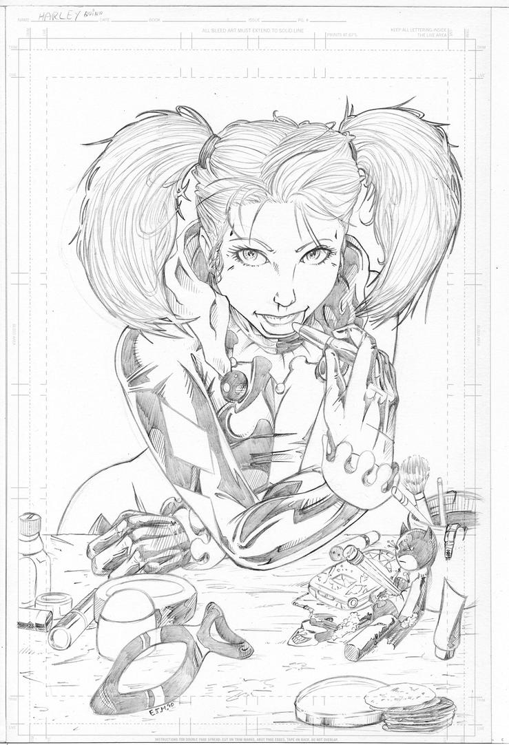 Harley Quinn - Pencils By Teamzoth On DeviantArt