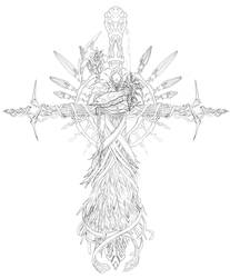 Angelic Cross Pencil Preview by teamzoth
