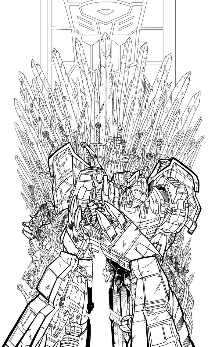 Grimlock i king ink by teamzoth on deviantart for Grimlock coloring page