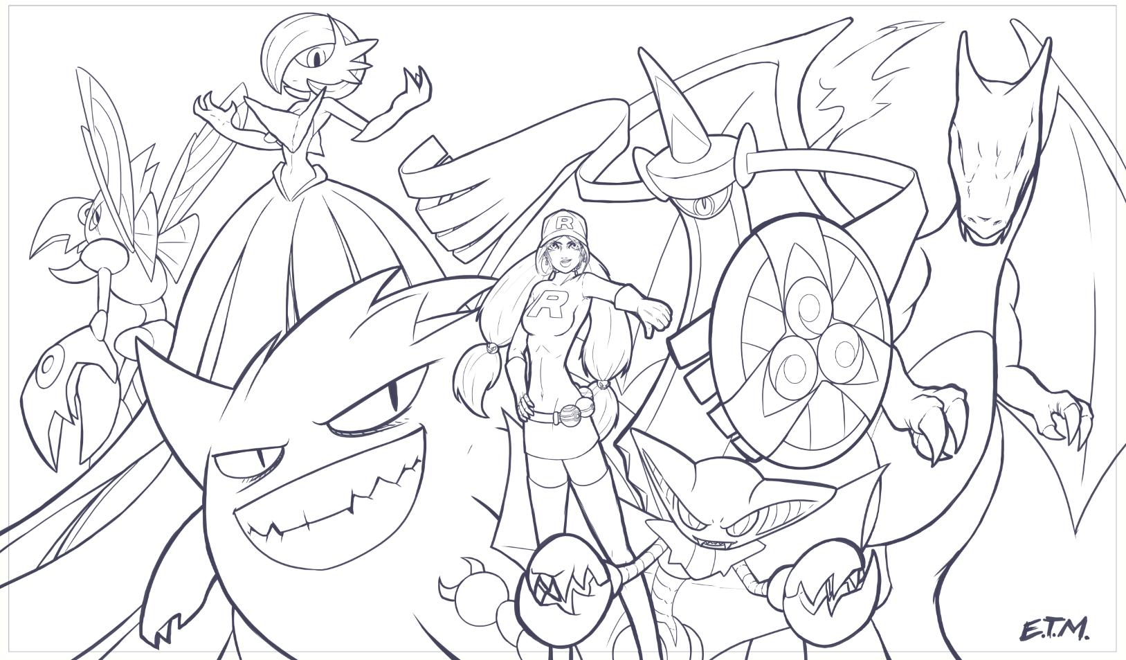Pokemon teamrocket lines by teamzoth on deviantart - Dessin de pokemon ex ...