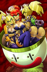 Bowsette and her Entourage by teamzoth