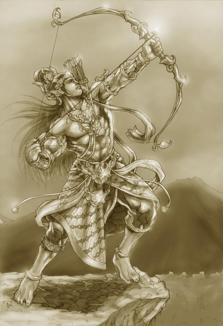 Arjuna by prastian