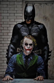 Batman and Joker (drawing)