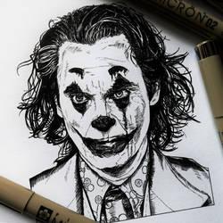 Joker (ink drawing)