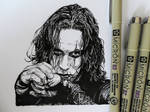 Brandon Lee (ink drawing)