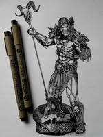Skeletor (ink drawing)