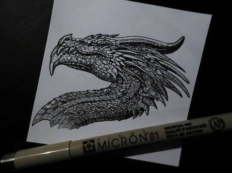 Dragon Head (ink drawing)