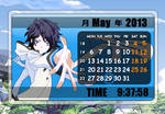 Rainmeter - Hibiki Kuze Calendar 2 - hiddenski