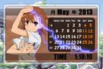 Rainmeter - Misaka Mikoto Calendar - hiddenskins