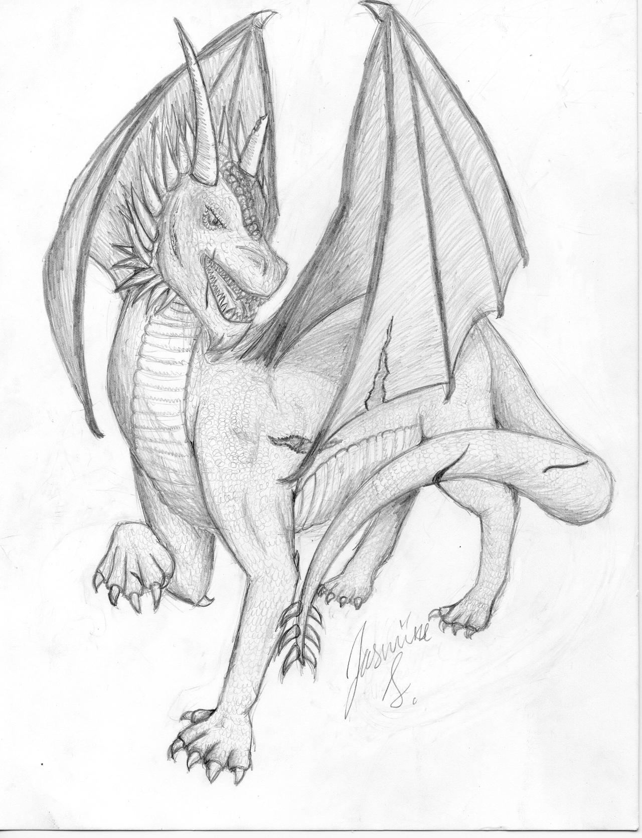 dragon pencil drawing by fjordhorse on deviantart