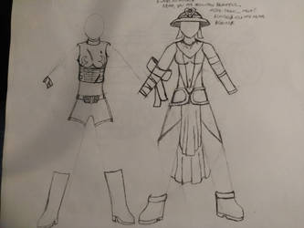 Nemain's outfits by Haleyzen