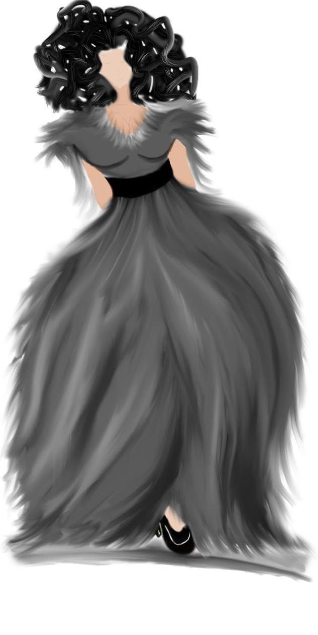 Dress Doodle by MissMisery94