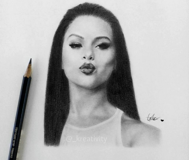Selena Gomez Drawing by kreativityart on DeviantArt