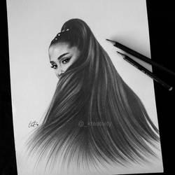 Ariana Grande hair by kreativityart