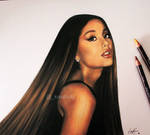Ariana Grande with her hair down