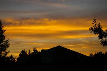 A sunset by SilverDrac