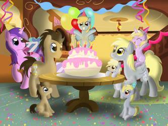 Commission - Chirpy's Birthday by Bratzoid