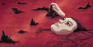 Floating in the Red Sea