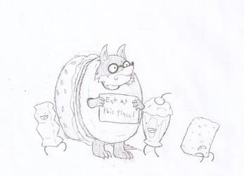 Nerd Wolf Burger by Flajingman