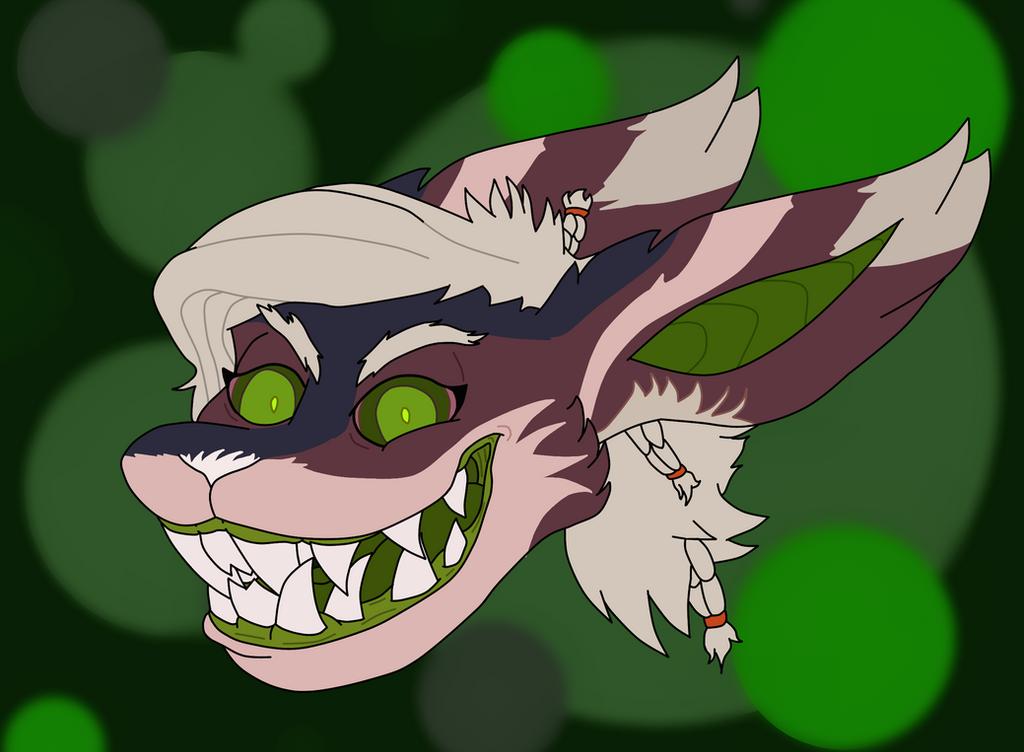 Creepy furry by Flajingman