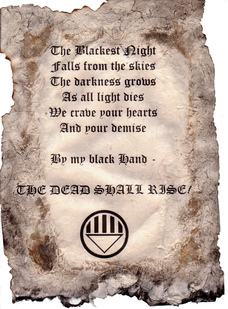 Black lantern oath - photo#47