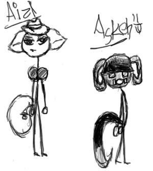 Ask and Aizl - Comic Ref by LollipopPorno