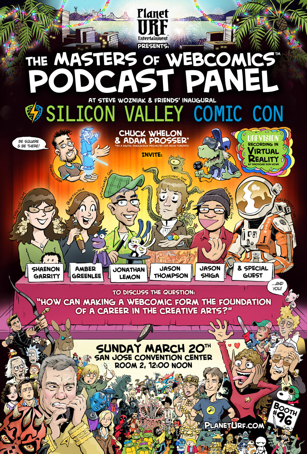 MastersofWebcomics SVCCPanel March2016 Flyer Color by chuckwheel