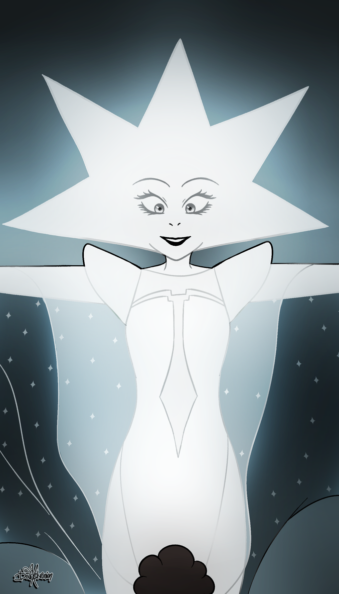 White Diamond and Steven Universe (c) Cartoon Network