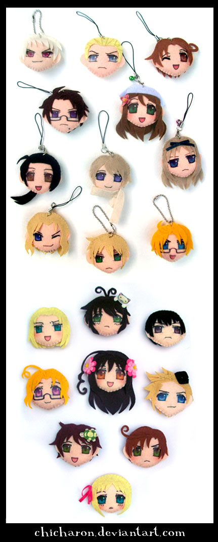 hetalia plushie keychain by chicharon