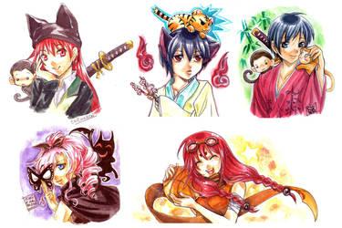 TM watercolors by chicharon