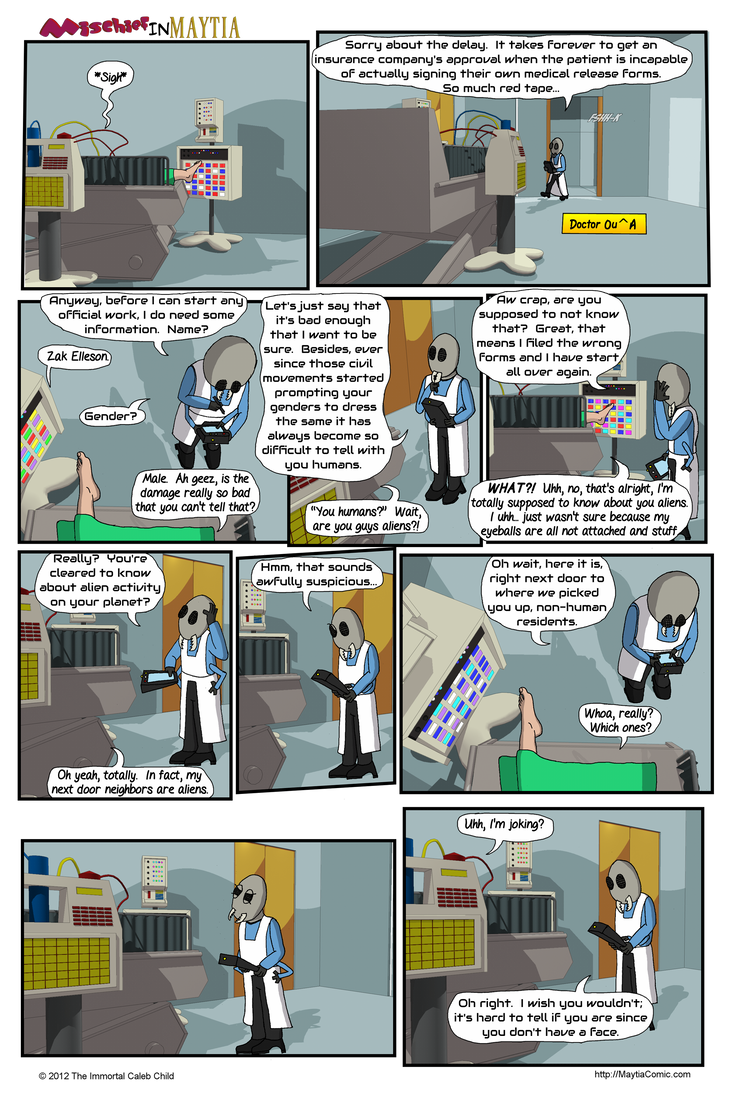 Mischief in Maytia 16 - Zak Consults with his Doc by Marscaleb