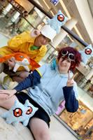 Takeru, Daisuke and Kuramons by Misamon