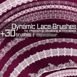 Dynamic Lace Brushes for PhotoShop and Medibang by Celexiaa