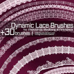 Dynamic Lace Brushes for PhotoShop and Medibang