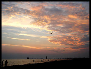 Grand Haven Pier and Sunset