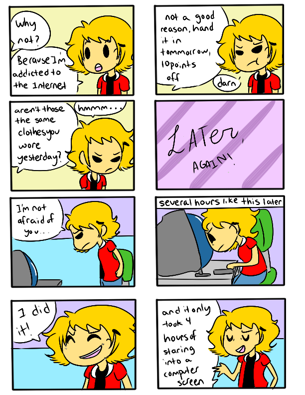 Comic strip who is the addict