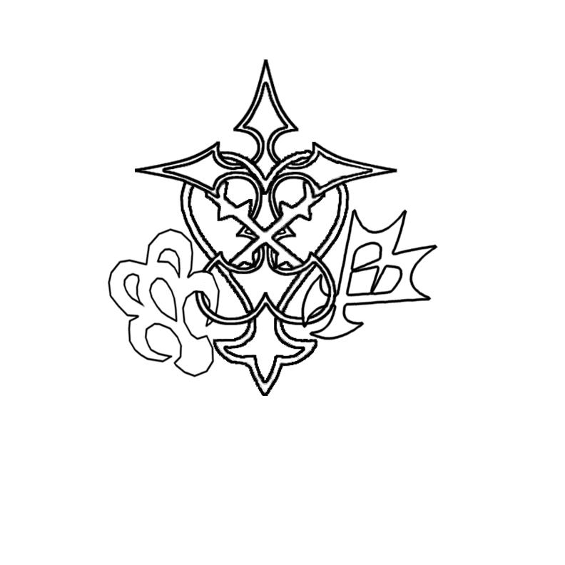 Kingdom Hearts Symbols Tattoo