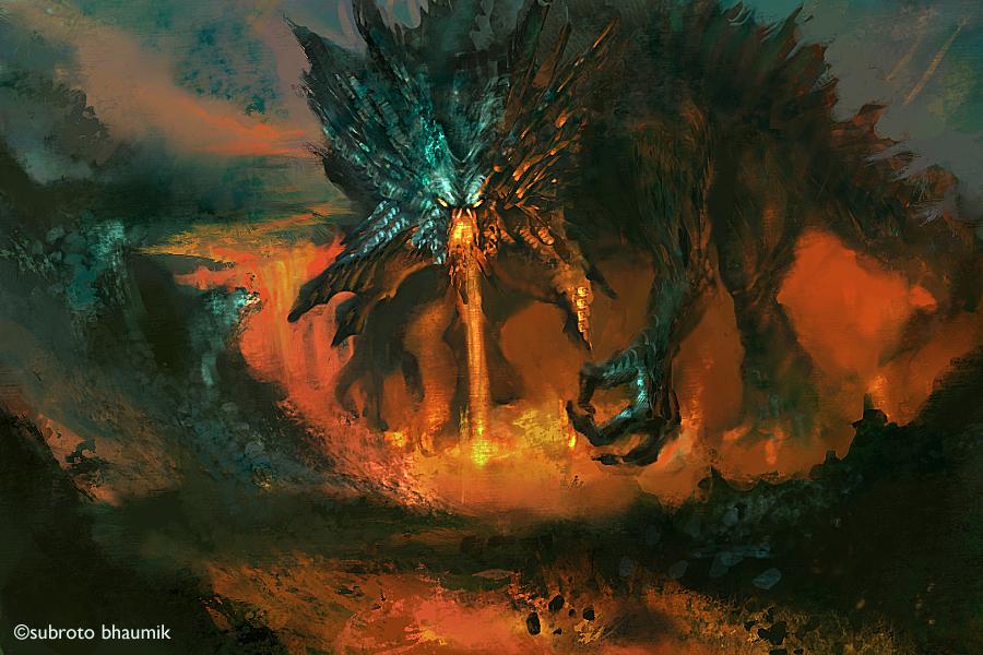 Lava Dragon By Orangus On DeviantArt