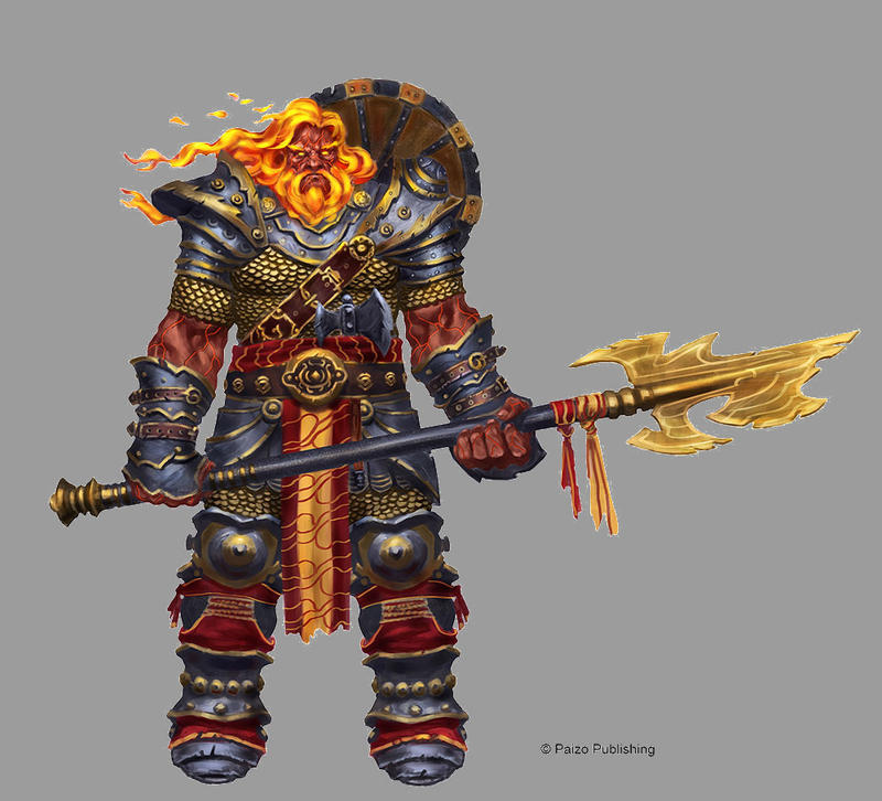 Fire Giant Hoplite by orangus
