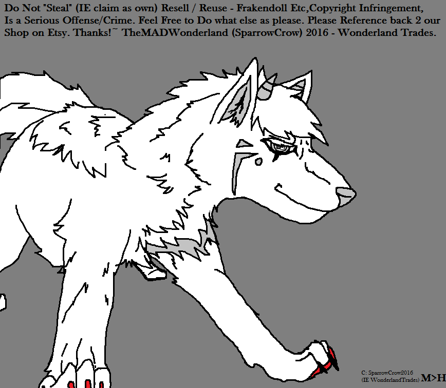 Free wolf base  Read the Rules Please! by WonderlandTrades