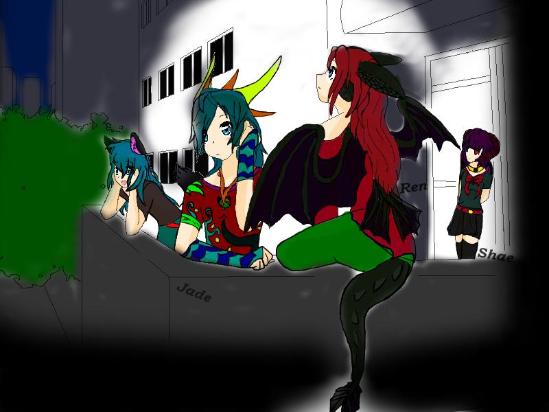 The Dragon Fan Team (Old Digitial) by WonderlandTrades