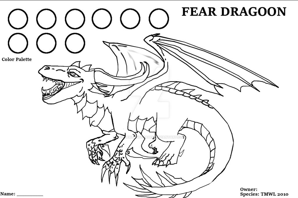 Fear Dragoon - Sell 1 - Line Art Base (READ)LOCKED by WonderlandTrades