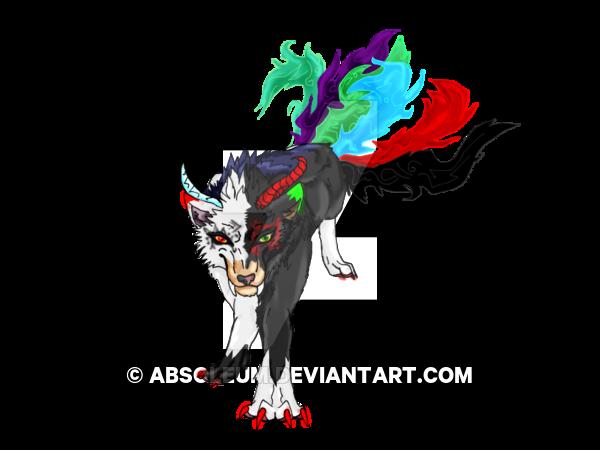 Our Demons - Digital Mystic Wolf/Demon by WonderlandTrades