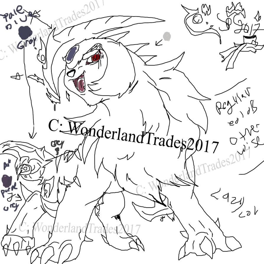 Absol/eum / Old Pokemon O.C / Sona - Read -Nocolor by WonderlandTrades