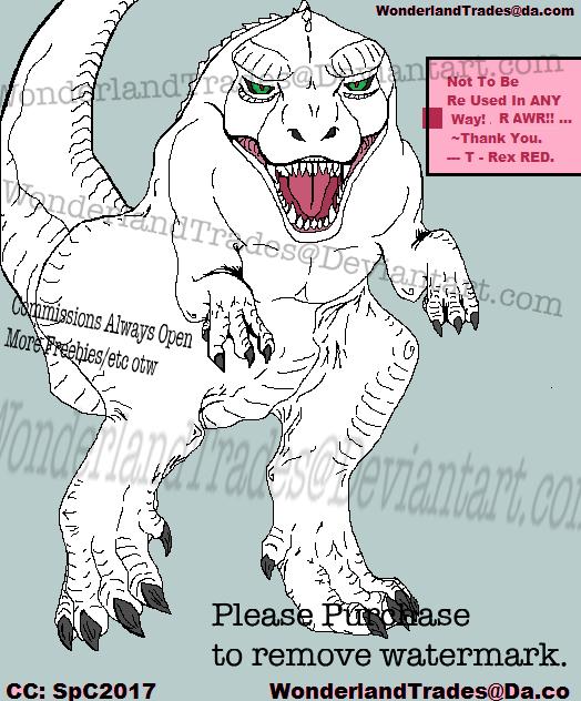 Trex 2.0 Line Art - MS Paint (Read) PNG - Buy by WonderlandTrades