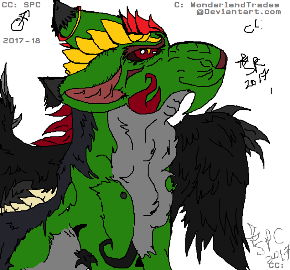 Dingdong 1014 - MS Paint Creature Doodle (read) by WonderlandTrades